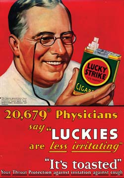 Lucky Strike Cigarette Advertisement