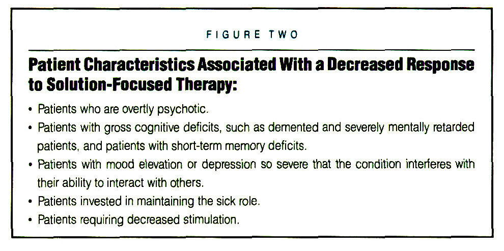 solution focussed therapy in social work Solution focused brief therapy (sfbt) is a therapeutic approach which is effective and brief by focusing on the future – rather than dwelling on the past – and identifying for the strengths and resources of the client, sfbt aims to build solutions rather than solve problems.